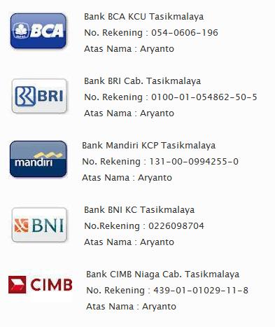 daftar rekening